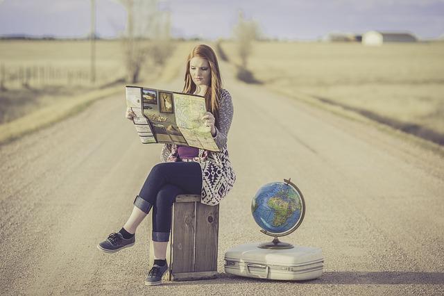 女性の旅人